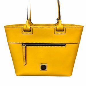 Dooney & Bourke Beacon Leather Zip Tote Dandelion
